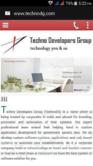 TechnoDG.com Mobile Responsive Website